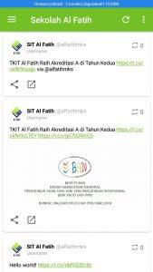 Tampilan Mobile App Sistem Informasi Al Fatih