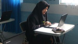 Suasana Ujian Tengah Semester SMAIT Al Fatih Menggunakan E-Learning