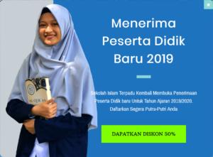 Penerimaan Peserta Didik Baru 2019 SIT Al Fatih