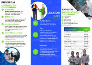 Brosur SMA IT Al Fatih Makassar Tahun 2019 2020