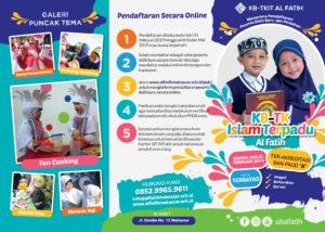Brosur KB-TK IT Al Fatih Makassar Tahun 2019 2020