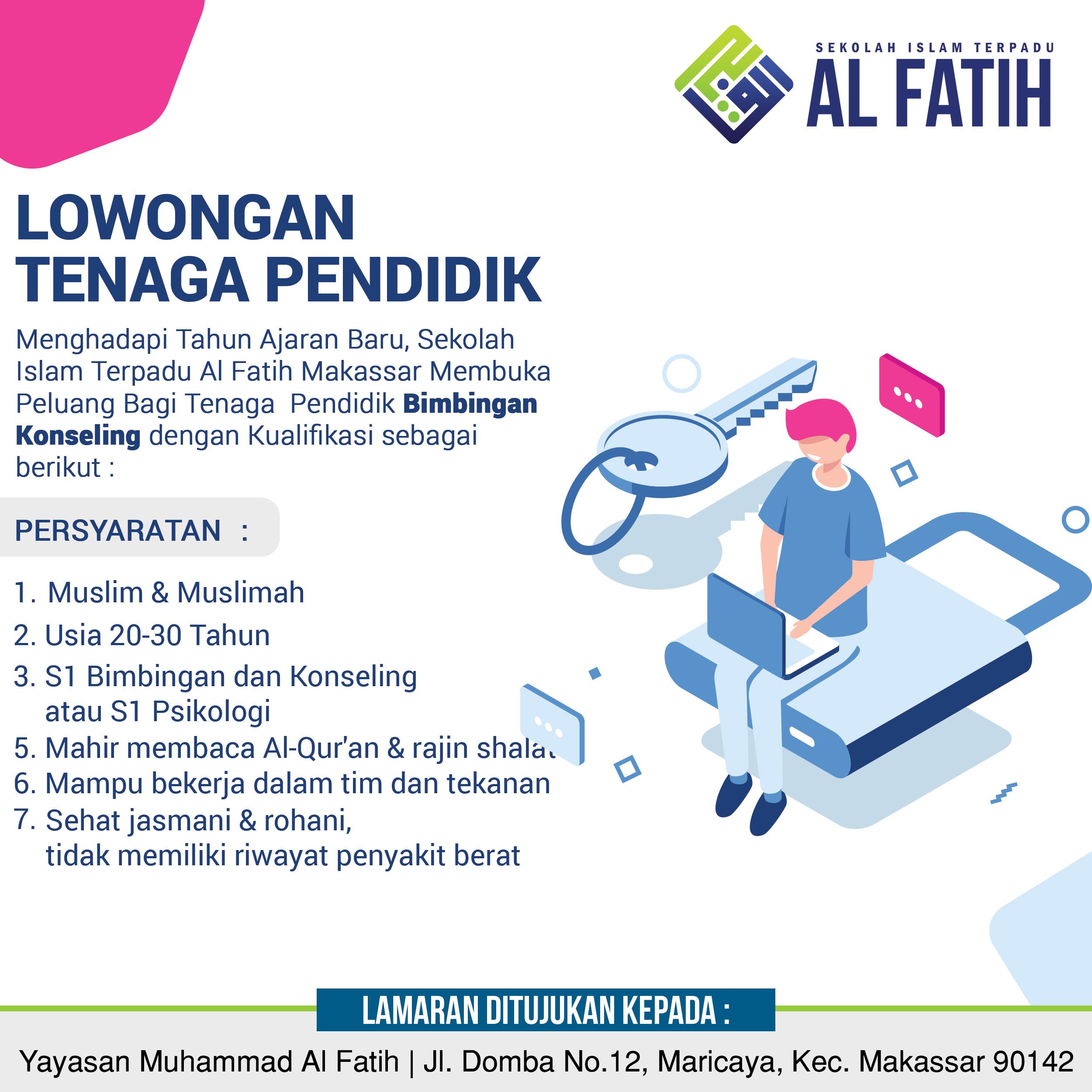 Job Vacany Sekolah Islam Terpadu Al Fatih