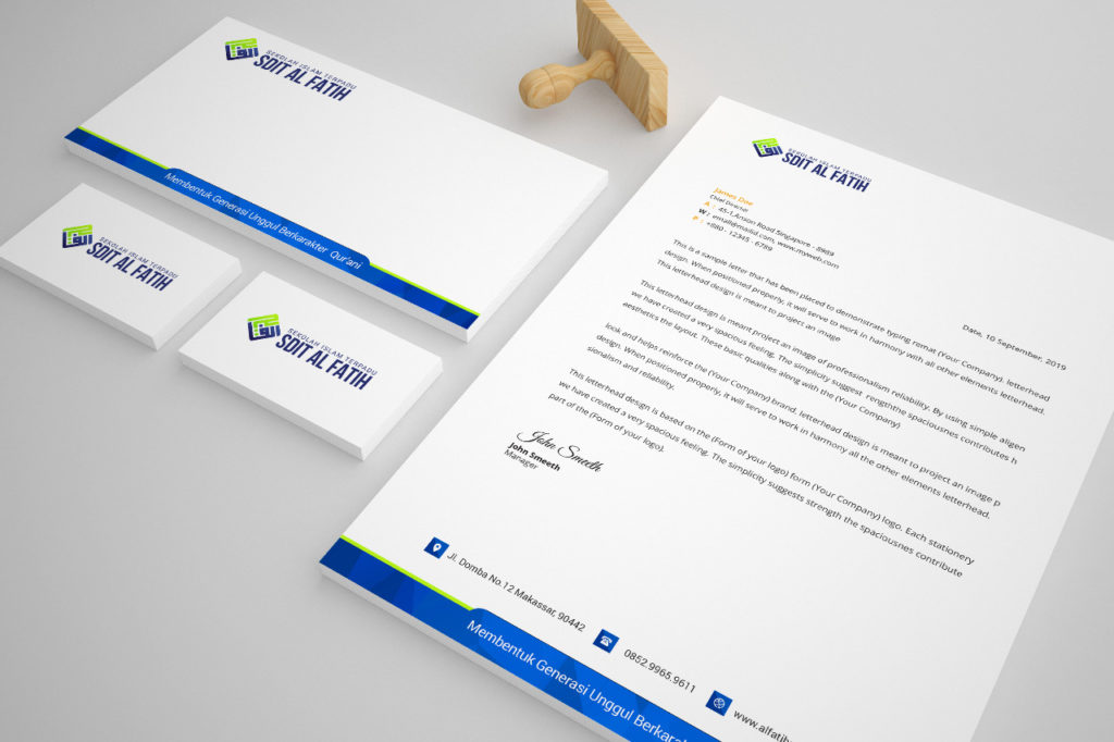 Download Format Surat PSD gratis
