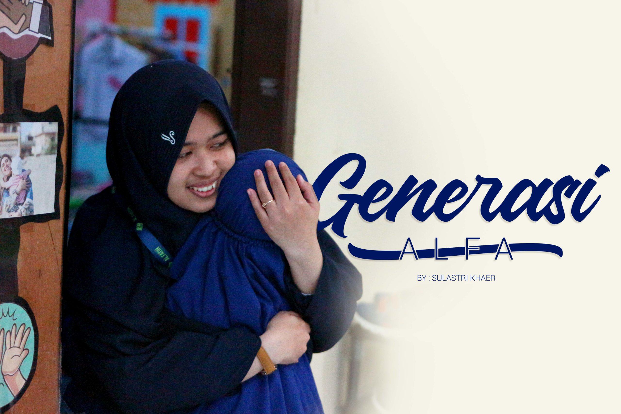 Generasi Alfa : Anak Kecil dengan Tas Punggung Besar
