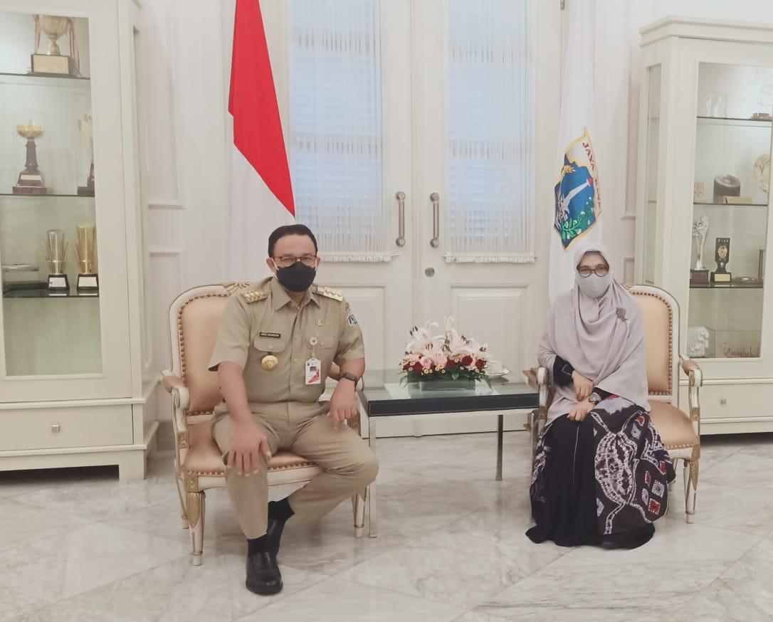 Hari Guru: Ketua Yayasan Muhammad Al Fatih Makassar Bertemu dengan Gubernur DKI Jakarta, Anies Baswedan